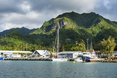 Fishing harbour of Avarua, capital of Rarotonga, Rartonga and the Cook Islands, South Pacific, Paci