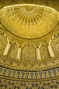 Golden dome inside the magnificent Grand Mosque, Kuwait City, Kuwait, Middle East by Michael Runkel