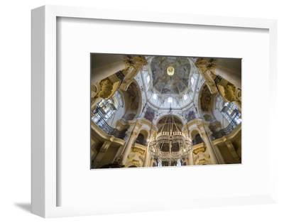 Interior of the St. Nicholas Church, Mala Strana, Prague, Czech Republic, Europe