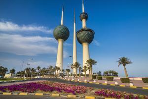 Landmark Kuwait towers in Kuwait City, Kuwait, Middle East by Michael Runkel