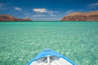 Little Boat in the Turquoise Waters at Isla Espiritu Santo, Baja California, Mexico, North America by Michael Runkel