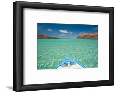 Little Boat in the Turquoise Waters at Isla Espiritu Santo, Baja California, Mexico, North America