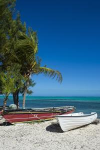 Little fishing boats, Providenciales, Turks and Caicos, Caribbean, Central America by Michael Runkel