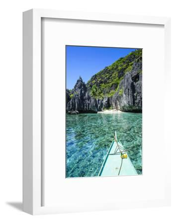Little White Beach and Crystal Clear Water in the Bacuit Archipelago, Palawan, Philippines