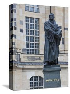 Martin Luther Statue in Dresden, Saxony, Germany, Europe by Michael Runkel