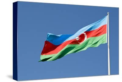 National Flag Blowing in Wind, Baku, Azerbaijan