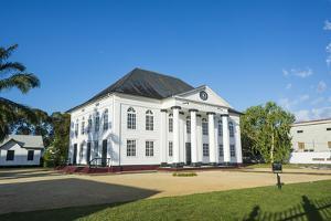 Neveh Shalom Synagogue, UNESCO World Heritage Site, Paramaribo, Surinam, South America by Michael Runkel