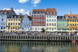 Nyhavn, 17th Century Waterfront, Copenhagen, Denmark, Scandinavia, Europe by Michael Runkel