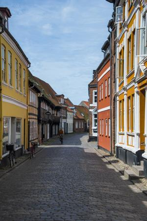 Old Historical Houses in Ribe, Denmark's Oldest Surviving City, Jutland, Denmark
