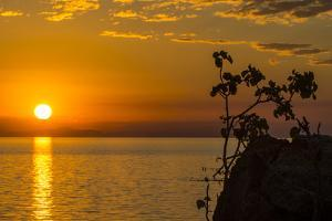 Otter Point at Sunset, Cape Maclear, Lake Malawi, Malawi, Africa by Michael Runkel