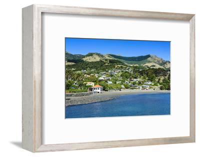 Overlook over Akaroa, Banks Peninsula, Canterbury, South Island, New Zealand, Pacific