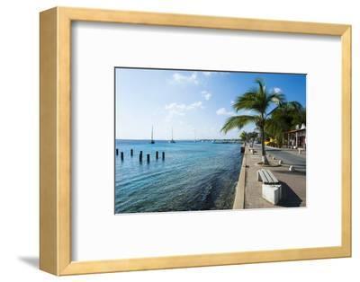 Pier in Kralendijk Capital of Bonaire, ABC Islands, Netherlands Antilles, Caribbean