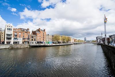River Liffey Flowing Through Dublin, Republic of Ireland