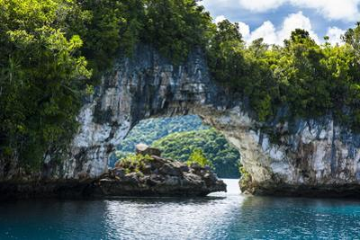 Rock Arch in the Rock Islands, Palau, Central Pacific, Pacific by Michael Runkel