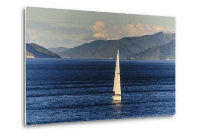 Sailing Boat in the Fjords around Picton, Marlborough Region, South Island, New Zealand, Pacific