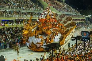 Samba Parade at the Carnival in Rio De Janeiro, Brazil, South America by Michael Runkel