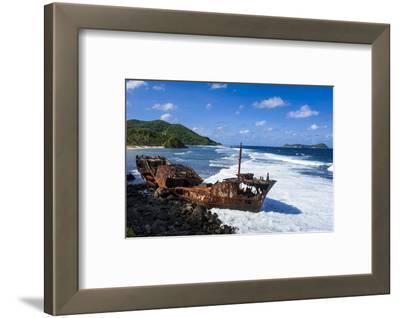Shipwreck on the East Coast of Tutuila Island, American Samoa, South Pacific