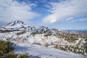 Snowcapped mountains in Shiretoko National Park, UNESCO World Heritage Site, Hokkaido, Japan, Asia by Michael Runkel