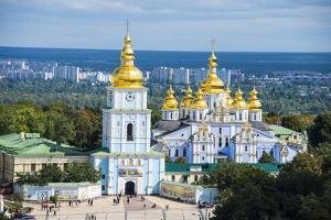 St. Michael's Gold-Domed Cathedral, Kiev (Kyiv), Ukraine, Europe by Michael Runkel