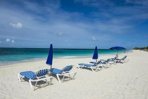 Sun loungers on world class Shoal Bay East beach, Anguilla, British Oversea territory, West Indies, by Michael Runkel