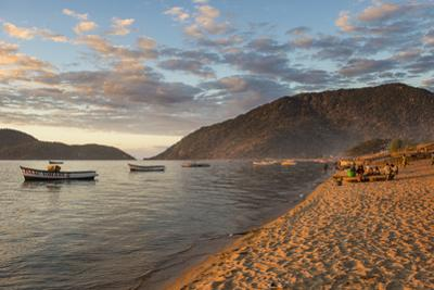 Sunset at Cape Maclear, Lake Malawi, Malawi, Africa by Michael Runkel