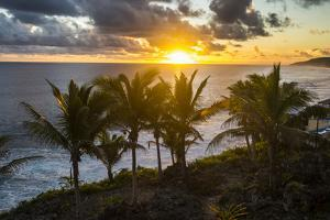 Sunset in Niue, South Pacific, Pacific by Michael Runkel