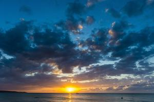 Sunset on Seven Mile Beach, Negril, Jamaica, West Indies, Caribbean, Central America by Michael Runkel