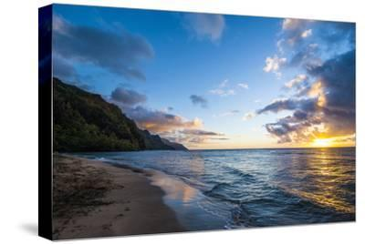 Sunset on the Napali Coast, Kauai, Hawaii,United States of America, Pacific