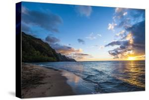 Sunset on the Napali Coast, Kauai, Hawaii,United States of America, Pacific by Michael Runkel