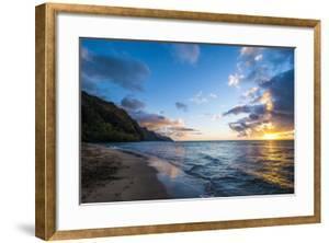 Sunset on the Napali Coast, Kauai, Hawaii,United States of America, Pacific by Michael Runkel