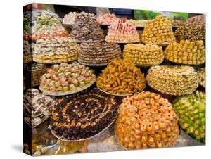 Sweets For Sale in the Souk of Meknes, Morocco, North Africa, Africa by Michael Runkel