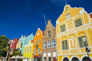 The Colourful Dutch Houses at Sint Annabaai, UNESCO Site, Curacao, ABC Island, Netherlands Antilles by Michael Runkel