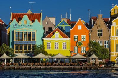 The Dutch Houses at Sint Annabaai in Willemstad, UNESCO Site, Curacao, ABC Is, Netherlands Antilles by Michael Runkel