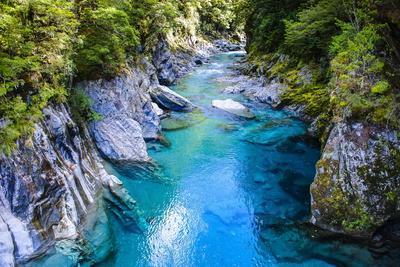 The Stunning Blue Pools, Haast Pass, South Island, New Zealand, Pacific