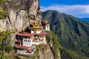 Tiger-Nest, Taktsang Goempa Monastery Hanging in the Cliffs, Bhutan by Michael Runkel