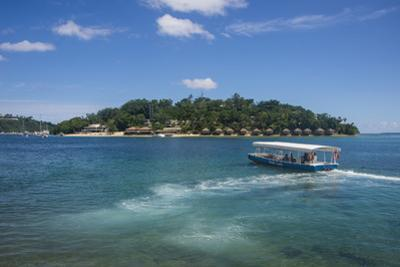 Transfer to the exclusive Iririki Island, Efate, Vanuatu, Pacific by Michael Runkel