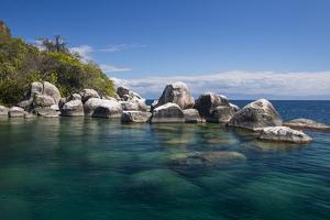 Turquoise Clear Water and Granite Rocks, Mumbo Island, Cape Maclear, Lake Malawi, Malawi, Africa by Michael Runkel