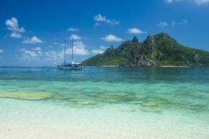 Very clear turquoise waters on Monuriki Island (Cast Away Island), Mamanuca Islands, Fiji, South Pa by Michael Runkel