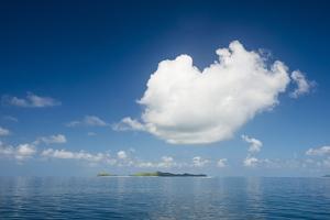 Very flat ocean, Mamanuca Islands, Fiji, South Pacific by Michael Runkel