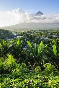 View from the Daraga Church on the Mount Mayon Volcano, Legaspi, Southern Luzon, Philippines by Michael Runkel