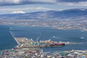 View over Hakodate from Mount Hakodate, Hokkaido, Japan, Asia by Michael Runkel