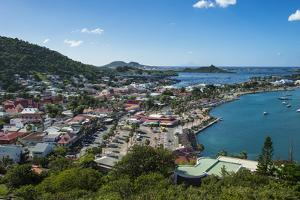 View over Marigot from Fort St. Louis, St. Martin, French territory, West Indies, Caribbean, Centra by Michael Runkel