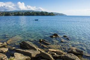 View over Nkhata Bay, Lake Malawi, Malawi, Africa by Michael Runkel