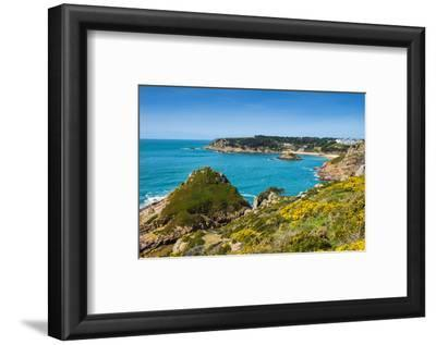 View over Portelet Bay, Jersey, Channel Islands, United Kingdom