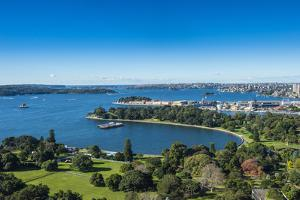 View over Sydney harbour, Sydney, New South Wales, Australia, Pacific by Michael Runkel