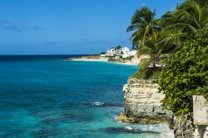 View over the cliffs of Mullet Bay, Sint Maarten, West Indies, Caribbean, Central America by Michael Runkel