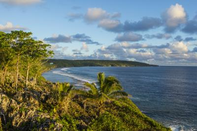 View over the coastline of Niue, South Pacific, Pacific