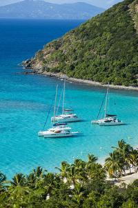 View over White Bay, Jost Van Dyke, British Virgin Islands, West Indies, Caribbean, Central America by Michael Runkel