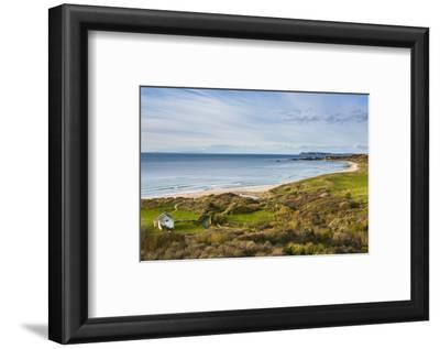 View over Whitepark Bay (White Park Bay), County Antrim, Ulster, Northern Ireland, United Kingdom