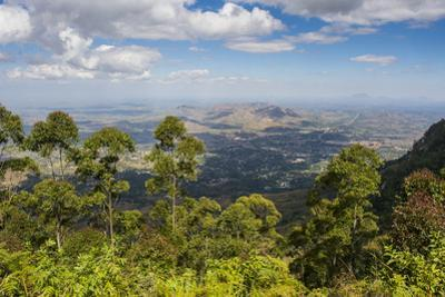 View over Zomba and the Highlands from the Zomba Plateau, Malawi, Africa by Michael Runkel